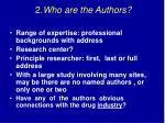 2 who are the authors