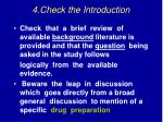 4 check the introduction