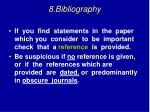 8 bibliography