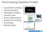 cloud computing adaptable scalable