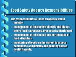 food safety agency responsibilities