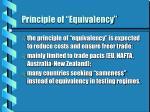 principle of equivalency