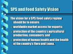 sps and food safety vision