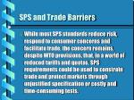 sps and trade barriers