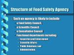structure of food safety agency