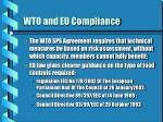 wto and eu compliance
