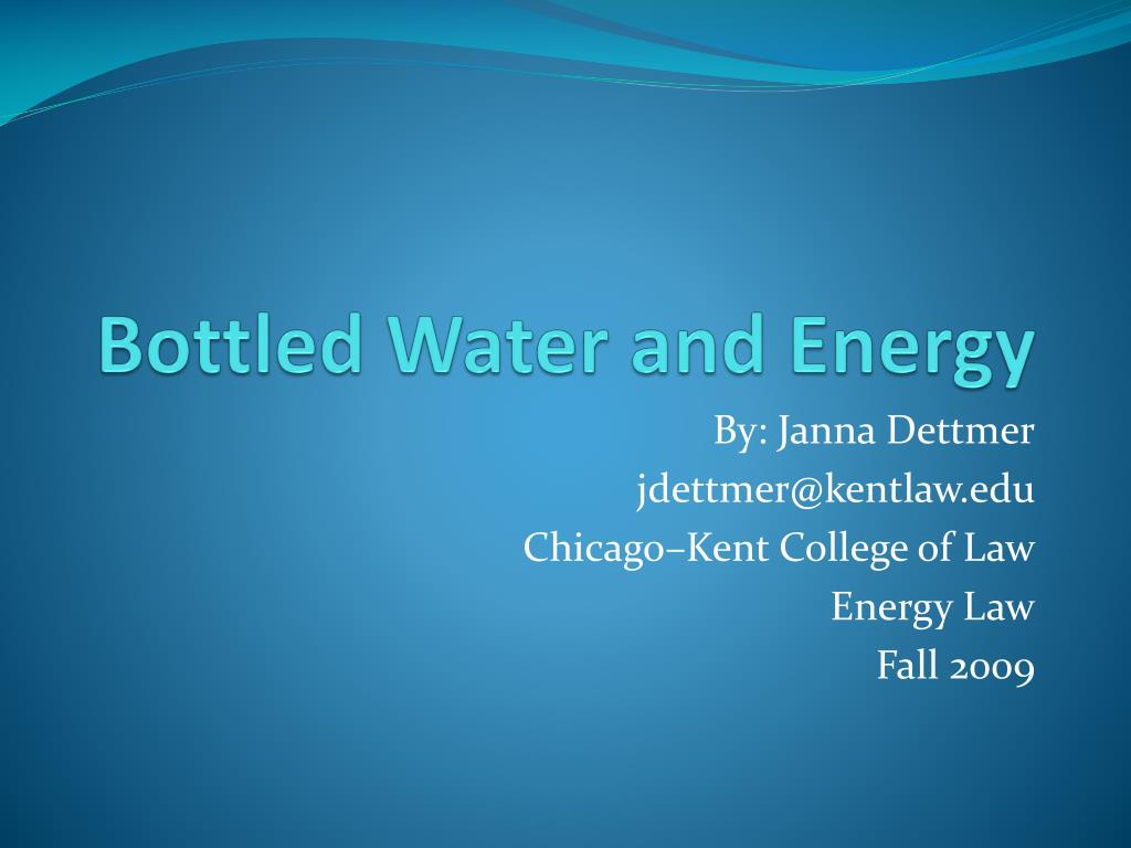 bottled water and energy l.