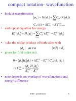 compact notation wavefunction