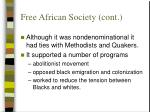 free african society cont
