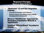 required changes means for rapid integration