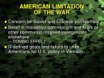 american limitation of the war