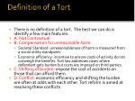 definition of a tort