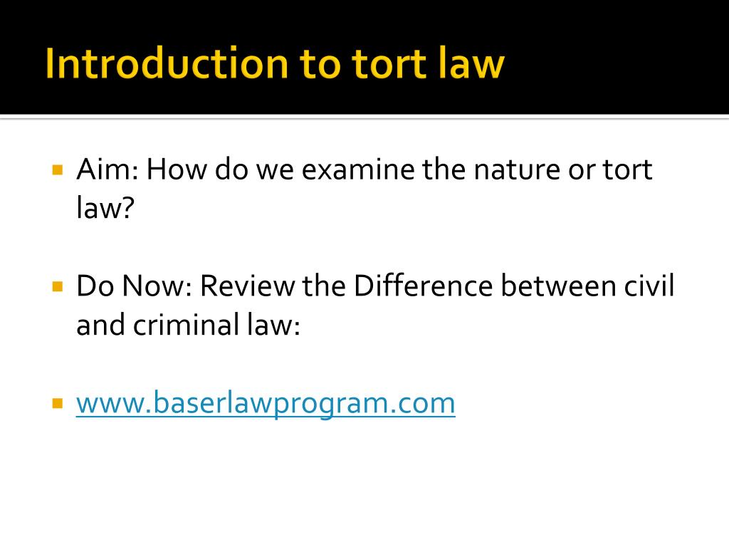 introduction to tort law l.
