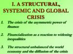 i a structural systemic and global crisis