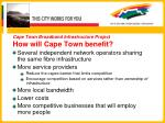 cape town broadband infrastructure project how will cape town benefit