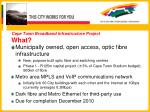 cape town broadband infrastructure project what