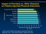 impact of psoriasis vs other diseases on patient reported physical outcomes