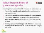 role and responsibilities of government agencies