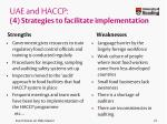 uae and haccp 4 strategies to facilitate implementation