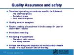 quality assurance and safety
