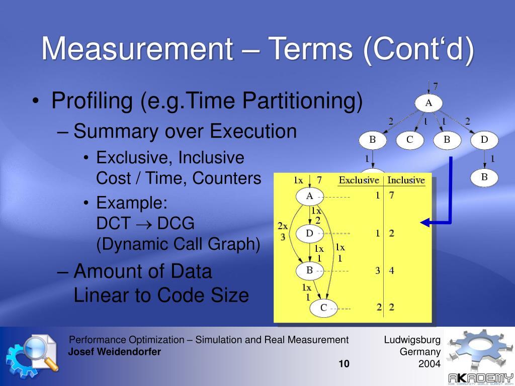 Measurement – Terms (Cont'd)