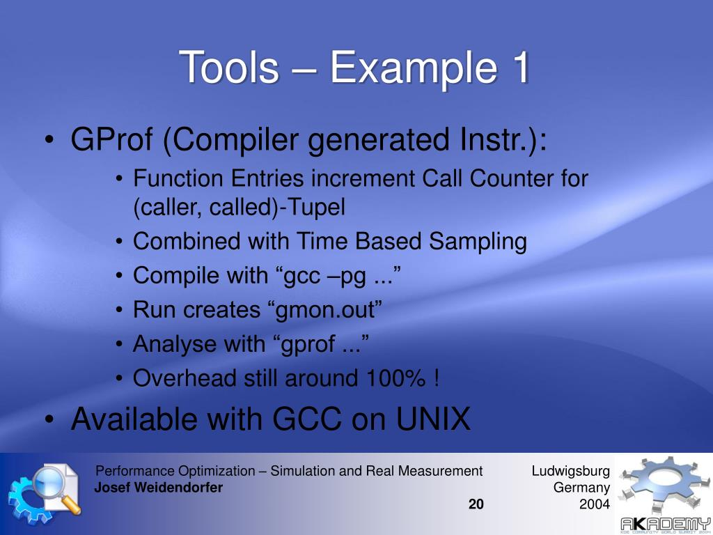 Tools – Example 1
