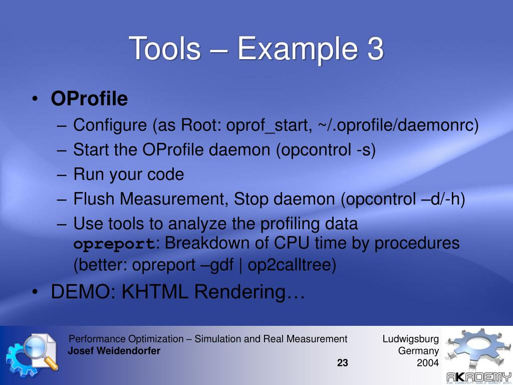 Tools – Example 3