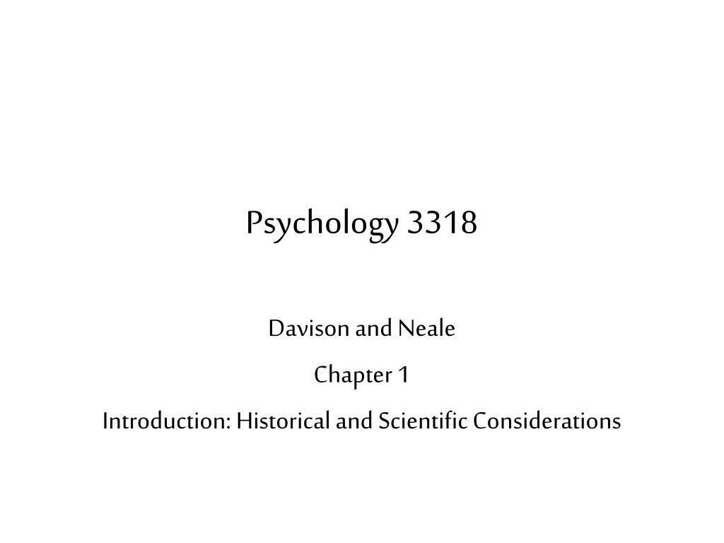 psychology 3318 l.