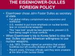 the eisenhower dulles foreign policy