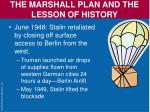 the marshall plan and the lesson of history17