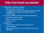 the postwar economy