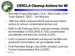 cercla cleanup actions for mi