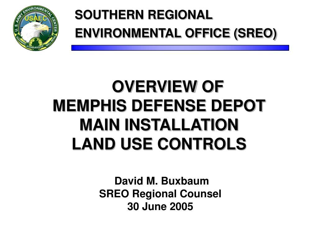 southern regional environmental office sreo l.