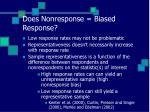does nonresponse biased response