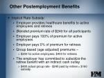 other postemployment benefits7