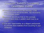 important statistics concerning catastrophic events