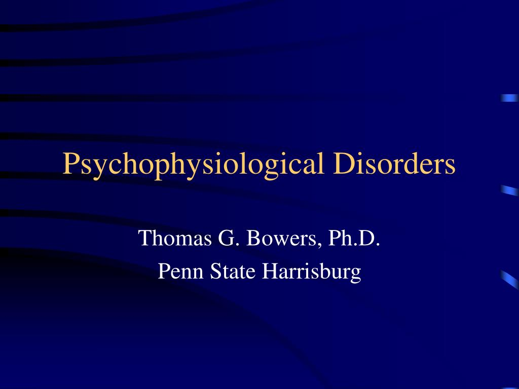 psychophysiological disorders l.