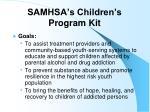 samhsa s children s program kit