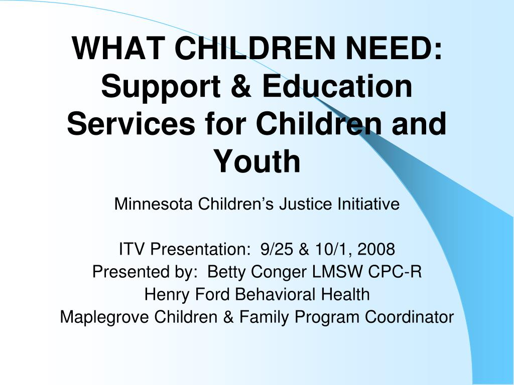 what children need support education services for children and youth l.