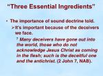 three essential ingredients16