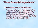 three essential ingredients19
