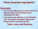 three essential ingredients21