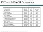 init and init ack parameters