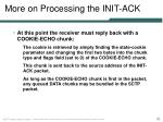 more on processing the init ack