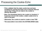 processing the cookie echo