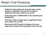 restart final processing