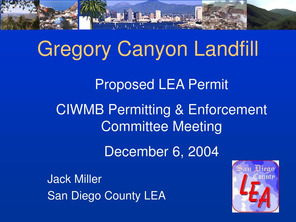 gregory canyon landfill l.