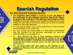 spanish regulation