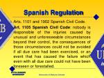 spanish regulation8