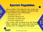 spanish regulation9